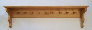 Regalbrett mit Haken 100×27×15 cm (l×h×t), auch in 150 cm Länge erhältlich